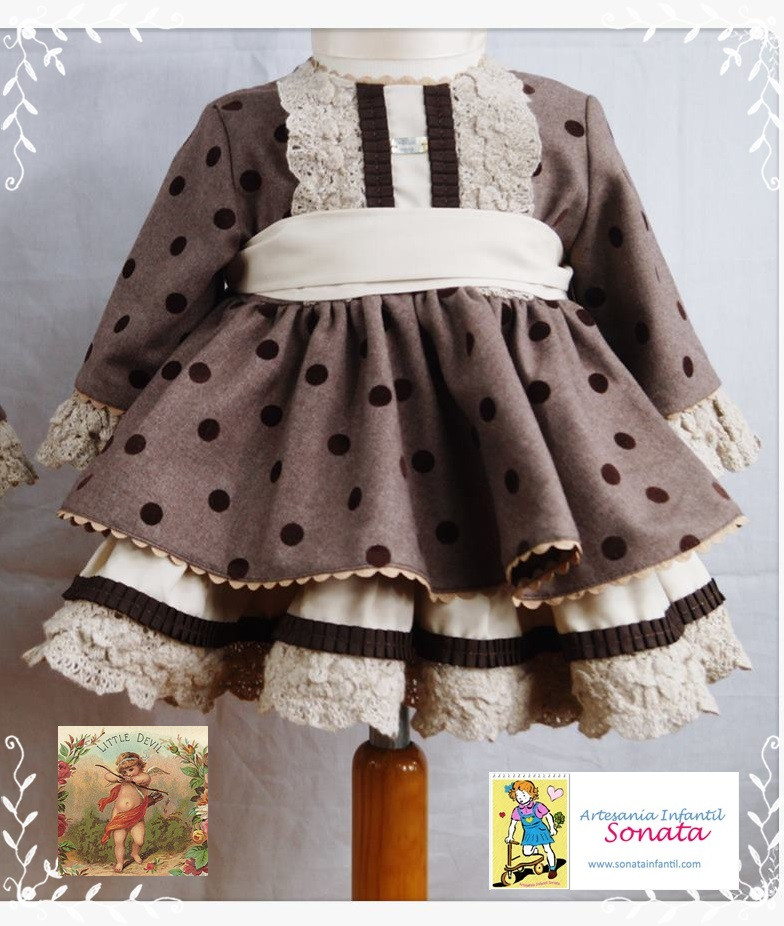 Chocolate Puffball Dress Fall Winter 2015